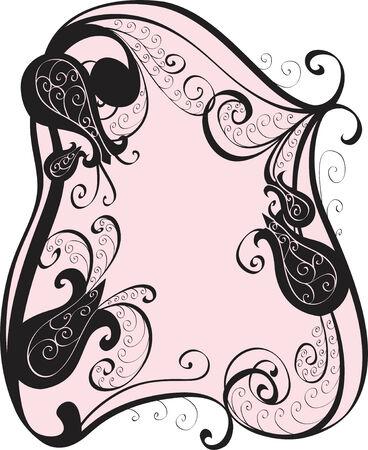 floral frame for design Vector