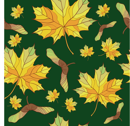 seamless background with maple  leaves Vector