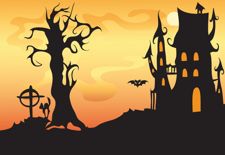 background for Halloween.Dark colored background . Stock Vector - 7932888