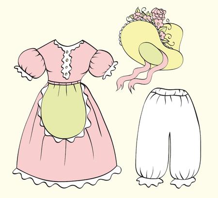 set of women clothing Stock Vector - 8017414