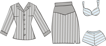 set of office clothes Vector