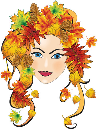 Autumn girl Stock Vector - 8017420