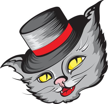 Chat à hat.
