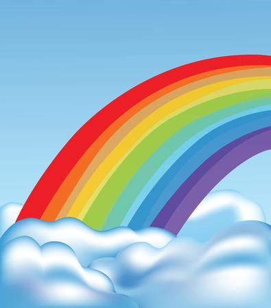 las nubes y arco iris
