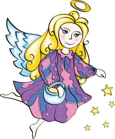 Christmas angel with stars