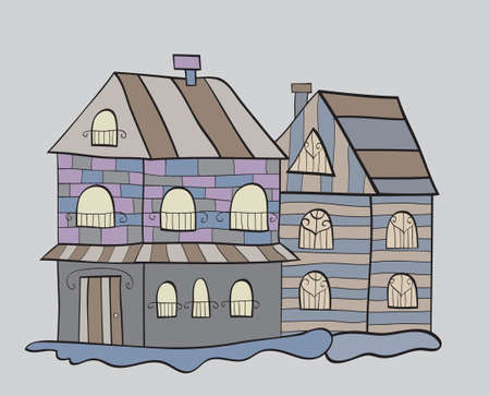 houses background Vector