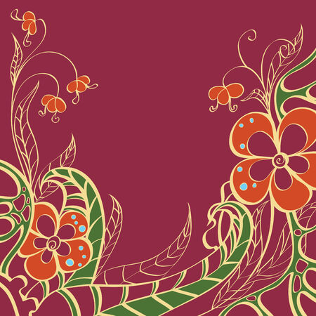 seamless pattern with flowers Stock Vector - 8089978