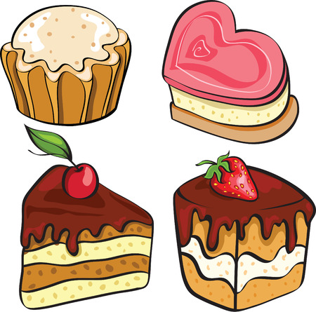 cherry pie: desserts for tea Illustration