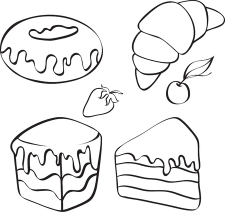 desserts for tea Stock Vector - 8182880