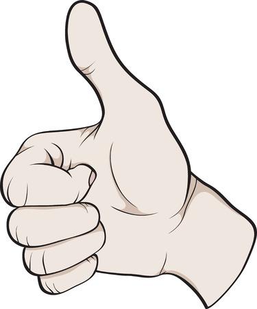 thumbs up symbol: hand