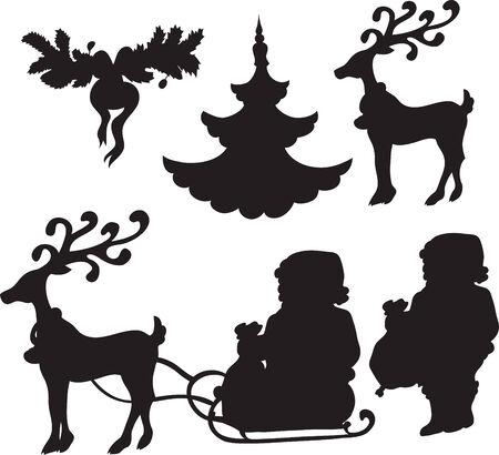 christmass: conjunto de iconos de Christmass  Vectores