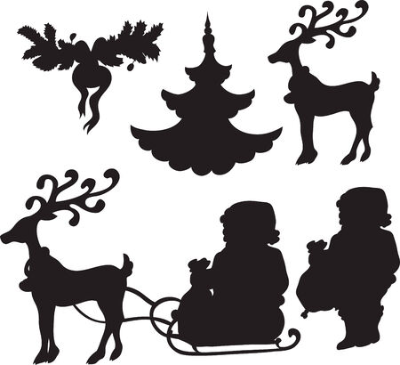 set of Christmass icons