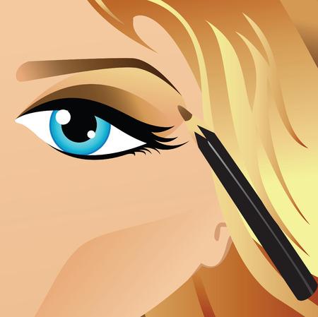 Teenage eye makeup