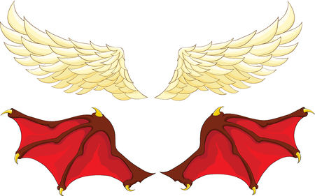 devil angel: wings of an angel and a demon