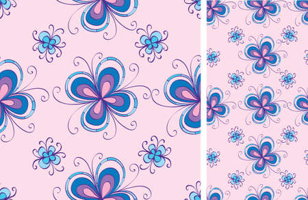 seamless background with decorative flowers Vector
