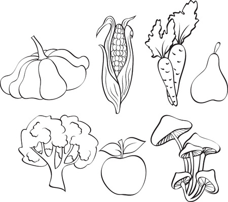 set of vegetables Stock Vector - 8265063