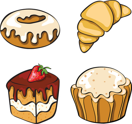 set fof breakfast Vector