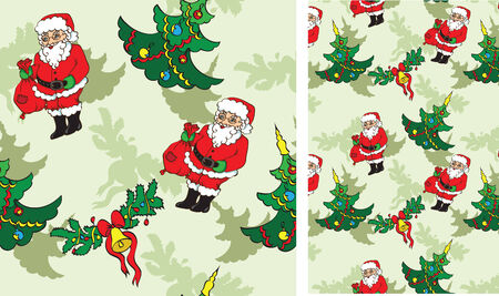 patch of light: seamless pattern with Christmass objects