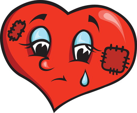 sad heart Stock Vector - 8396849