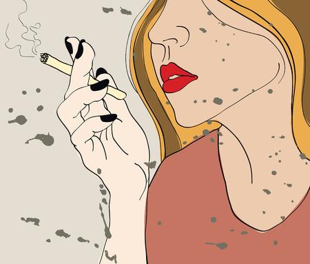 gill with cigarette