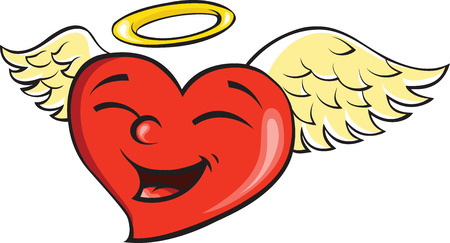 heart with wings to Valentines Day Vector