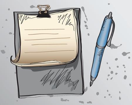 hoja de papel y l�piz Vectores