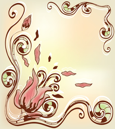 abstract background with decorative flowers Vector