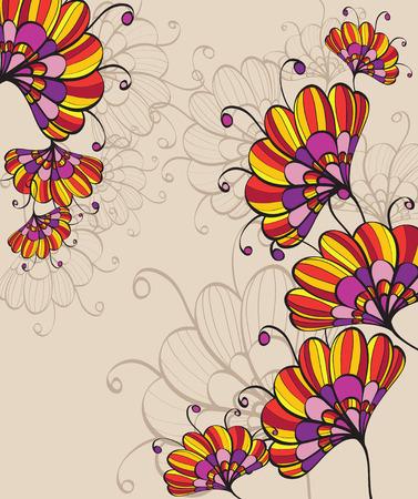 Vintage fondo floral