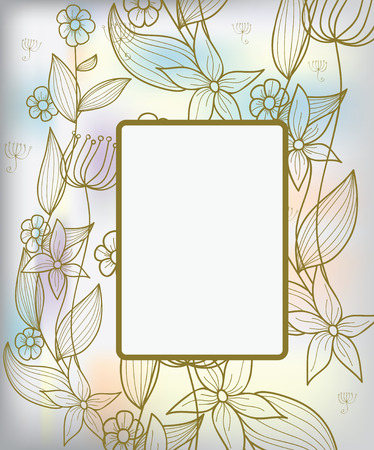 background with decorative pastel flowers