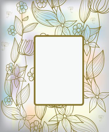 flores color pastel: Fondo con flores decorativas Vectores