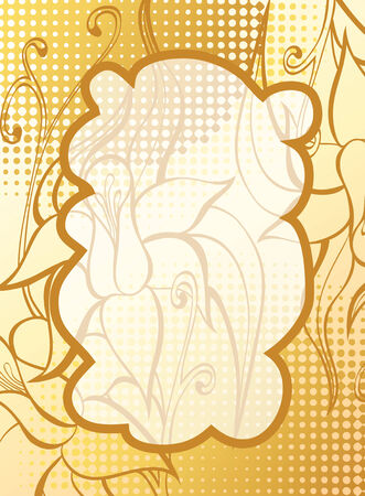 roll curtains: abstract background with decorative flowers Illustration