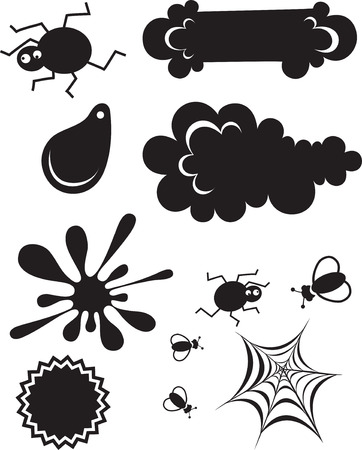 set of items for decorating Stock Vector - 8828983