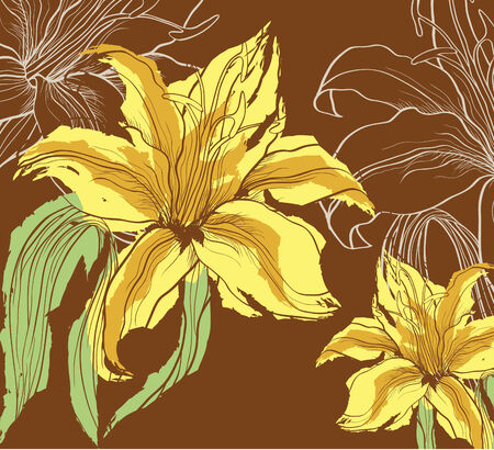 abstract background with decorative lily