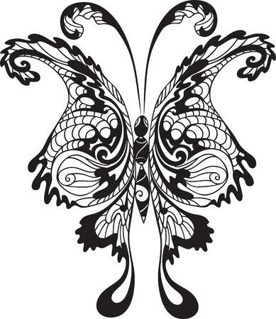 Mariposa negra Vectores