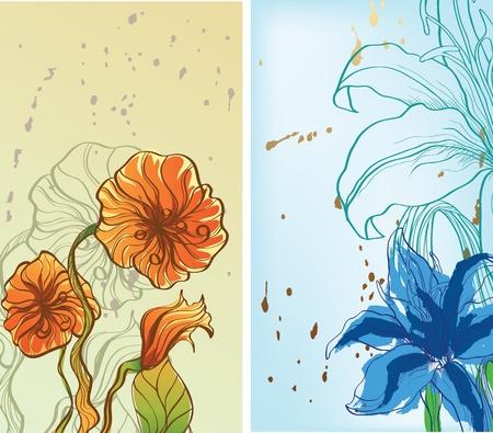 dos fotograf�as con flores
