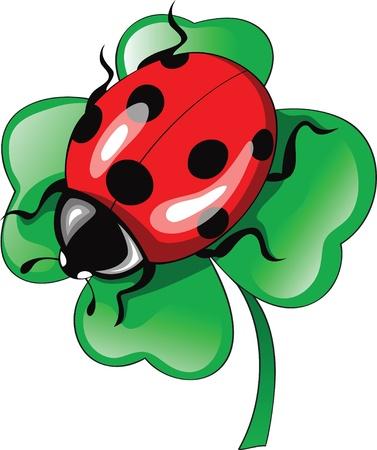 ladybug on clower Stock Vector - 9149502