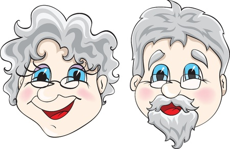 grandfather and grandmother: grandparents Illustration