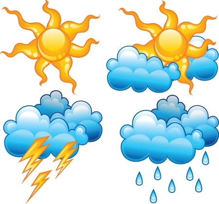 lightnings: Weather icons Illustration