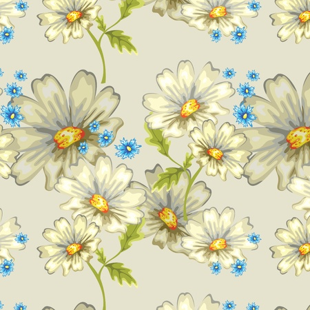seamless background with daisies