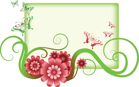 decorative flowers and frame