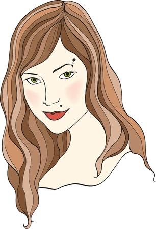 nice girl isolated on white background