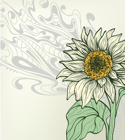 graine tournesol: contexte abstrait avec tournesol