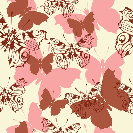 fondo transparente con mariposas
