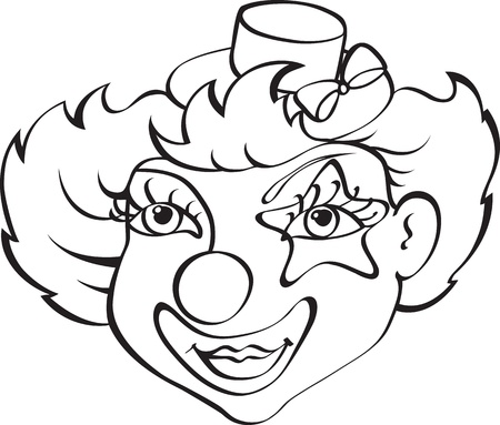 clown isolated on white background Vector