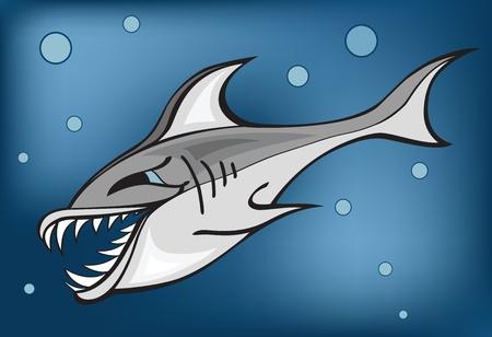 evil fish Vector