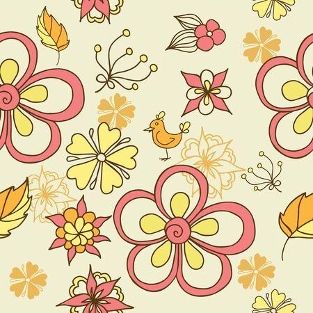 bloemen naadloze achtergrond