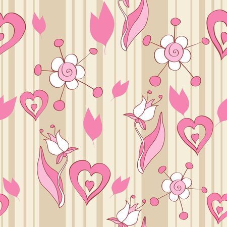 Pink floral seamless background Stock Vector - 10696973