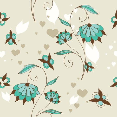 floral decoration: cute floral seamless