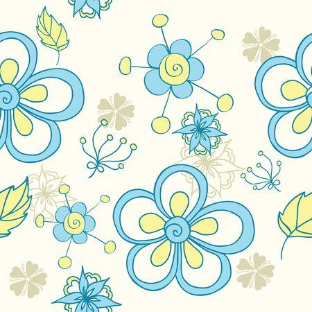 cute floral seamless Vector