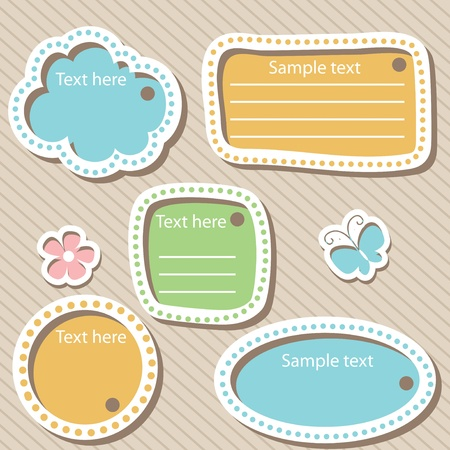 free border: set of scrapbook elements